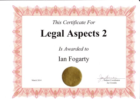 legal aspects 2 certifcate